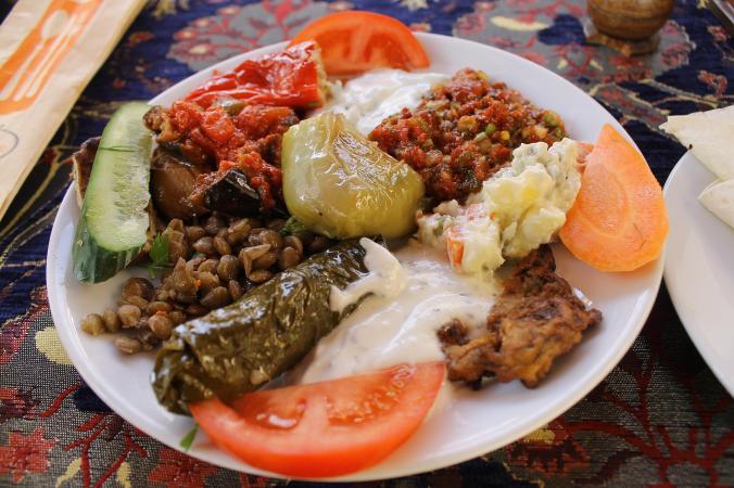 Turkish mezze mixed plate