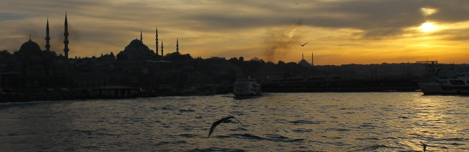 Istanbul Panorama seen from the Bosporus.