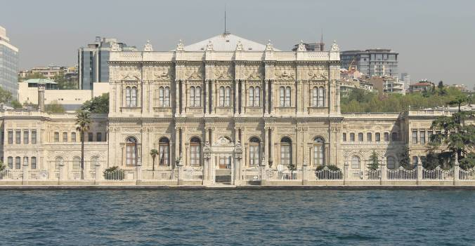 Dolmabahce Palace from the Bosporus cruise.