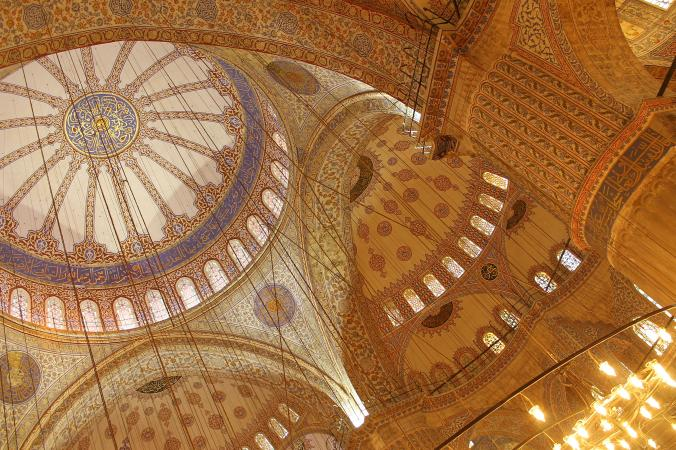 Interiors of the Blue Mosque.