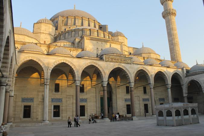 The Sulemaniye Mosque.