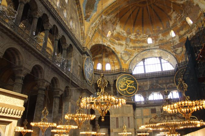 The gorgeous interiors of the Ayasofya.