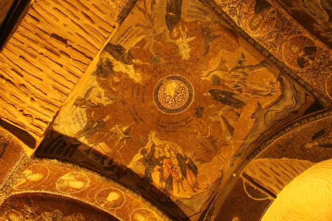 Mosaics at Chora church.