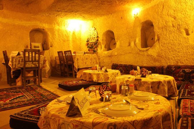 A cave restaurant.