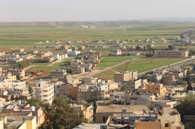 Typical Jordanian countryside, seen from the Bell Tower of the church